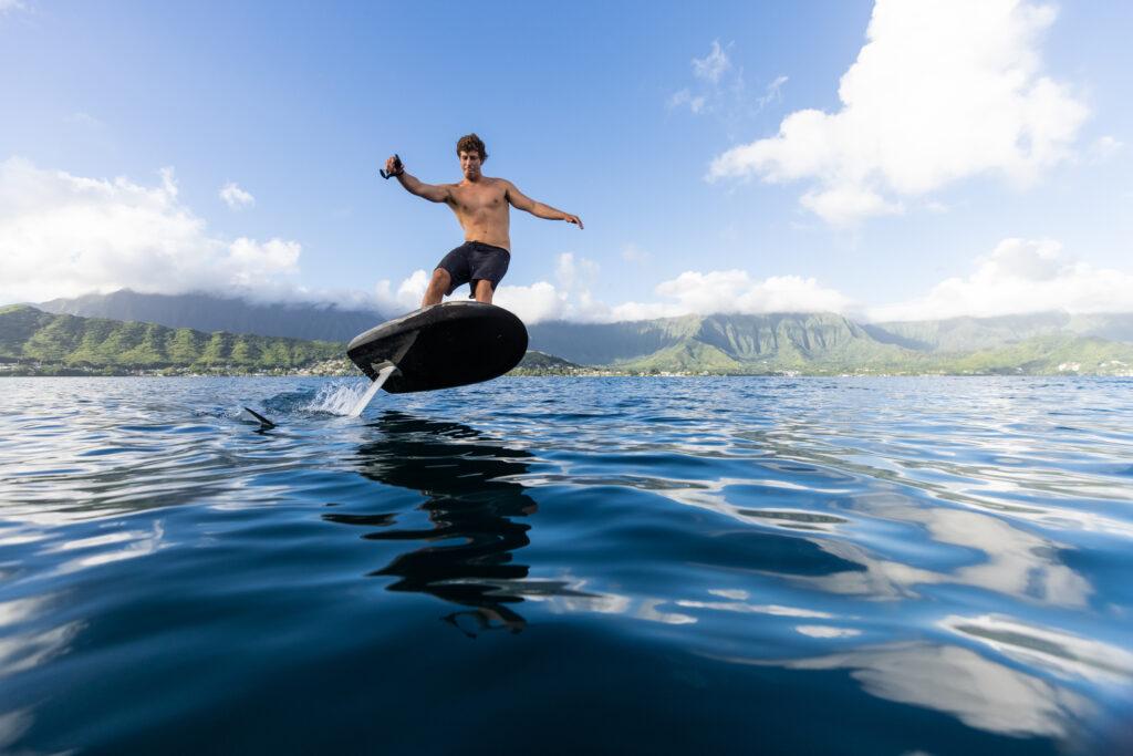 A man riding a Fliteboard
